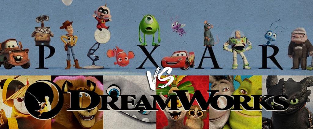 pixar vs dreamwork brun noir