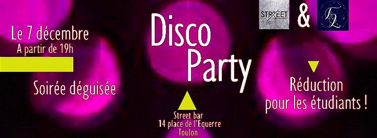 Disco Party Street . Bar