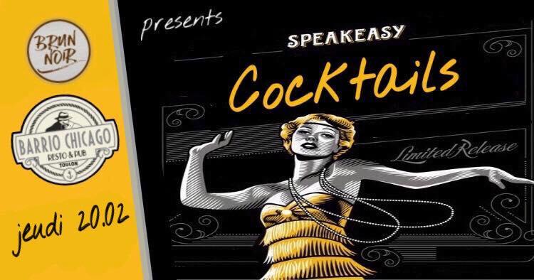 Speakeasy cocktails > carte blanche à greg BRUN NOIR au Barrio Chicago