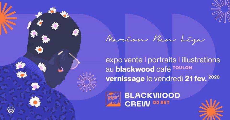 Vernissage Marion Ben Lisa au Blackwood Toulon