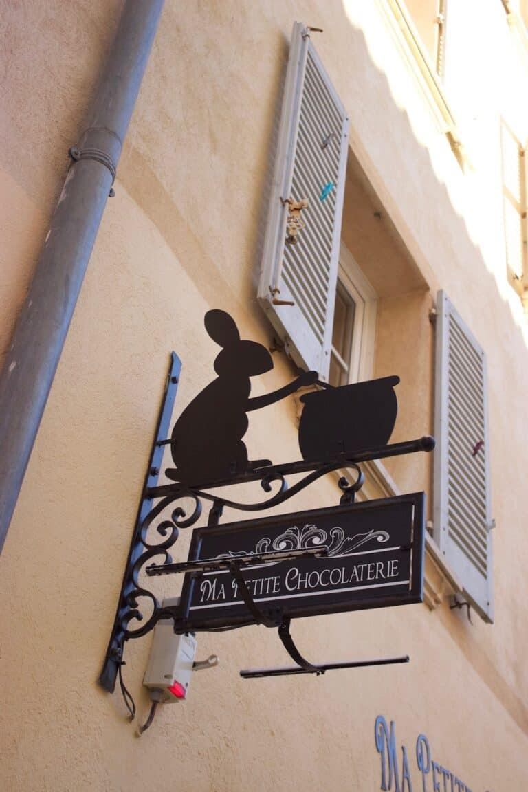 Enseigne Fer Forgé de Ma Petite Chocolaterie Toulon