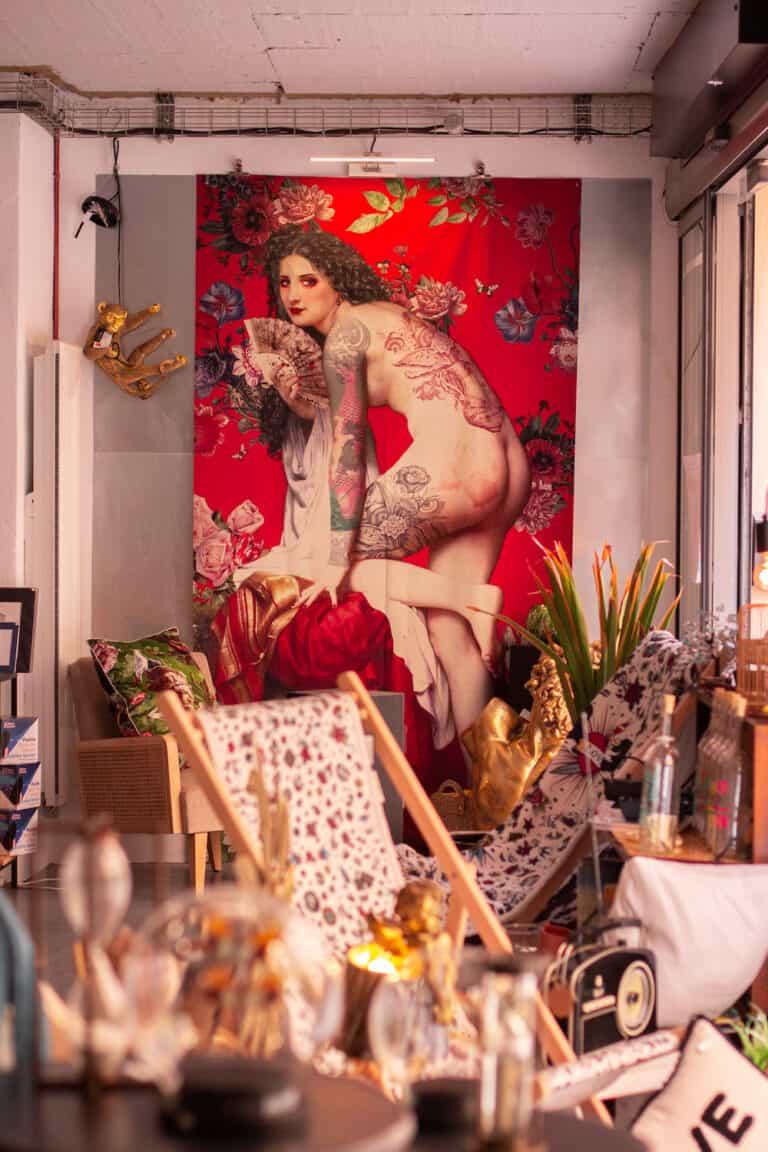 Tenture Baroque Toulon Rouge